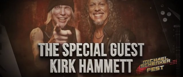 MICHAEL SCHENKER FEST Working with Kirk Hammett