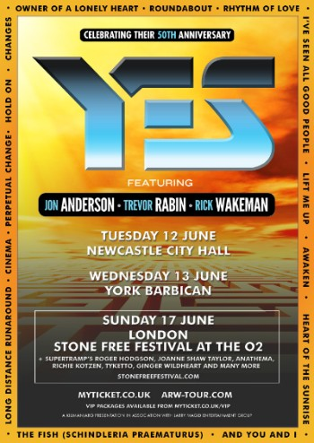 YES ft. ARW announce additional 50th anniversary shows