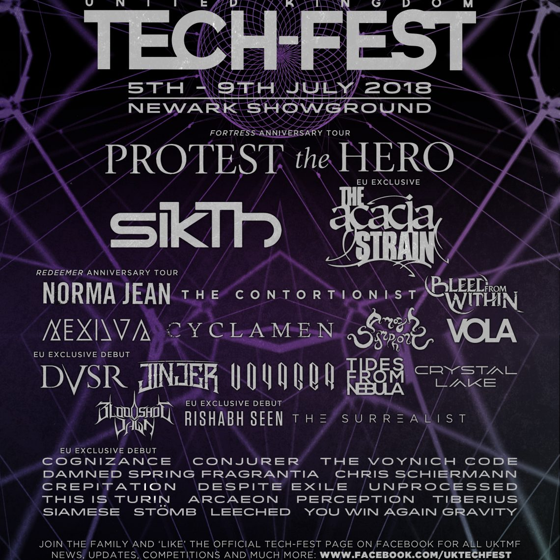 TECH-FEST 2018: Protest The Hero, Sikth Norma Jean + 12 more announced