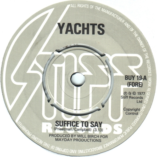 Yachts – Suffice To Say (The Complete Yachts Collection)