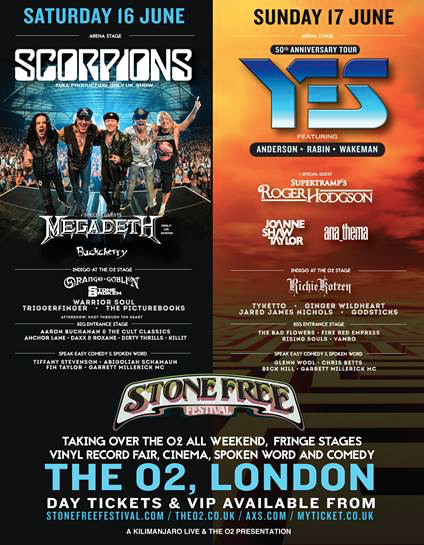 Stone Free Festival 2018 announces running times plus line-up additions