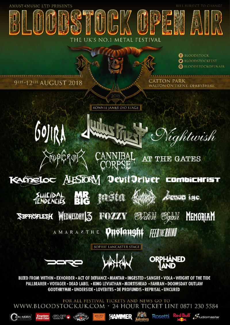 BLOODSTOCK TO RELEASE DAY TICKETS, ANNOUNCE MORE BANDS & NEW ENTERTAINMENT PLANS