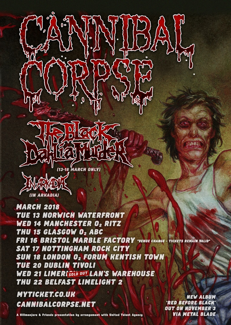 Cannibal Corpse- Kentish Town Forum (18/03/18)