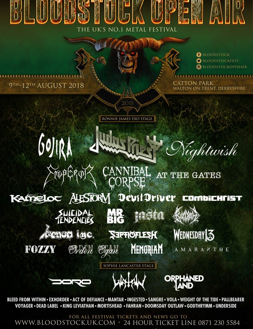 BLOODSTOCK announces CANNIBAL CORPSE, BLEED FROM WITHIN & more!