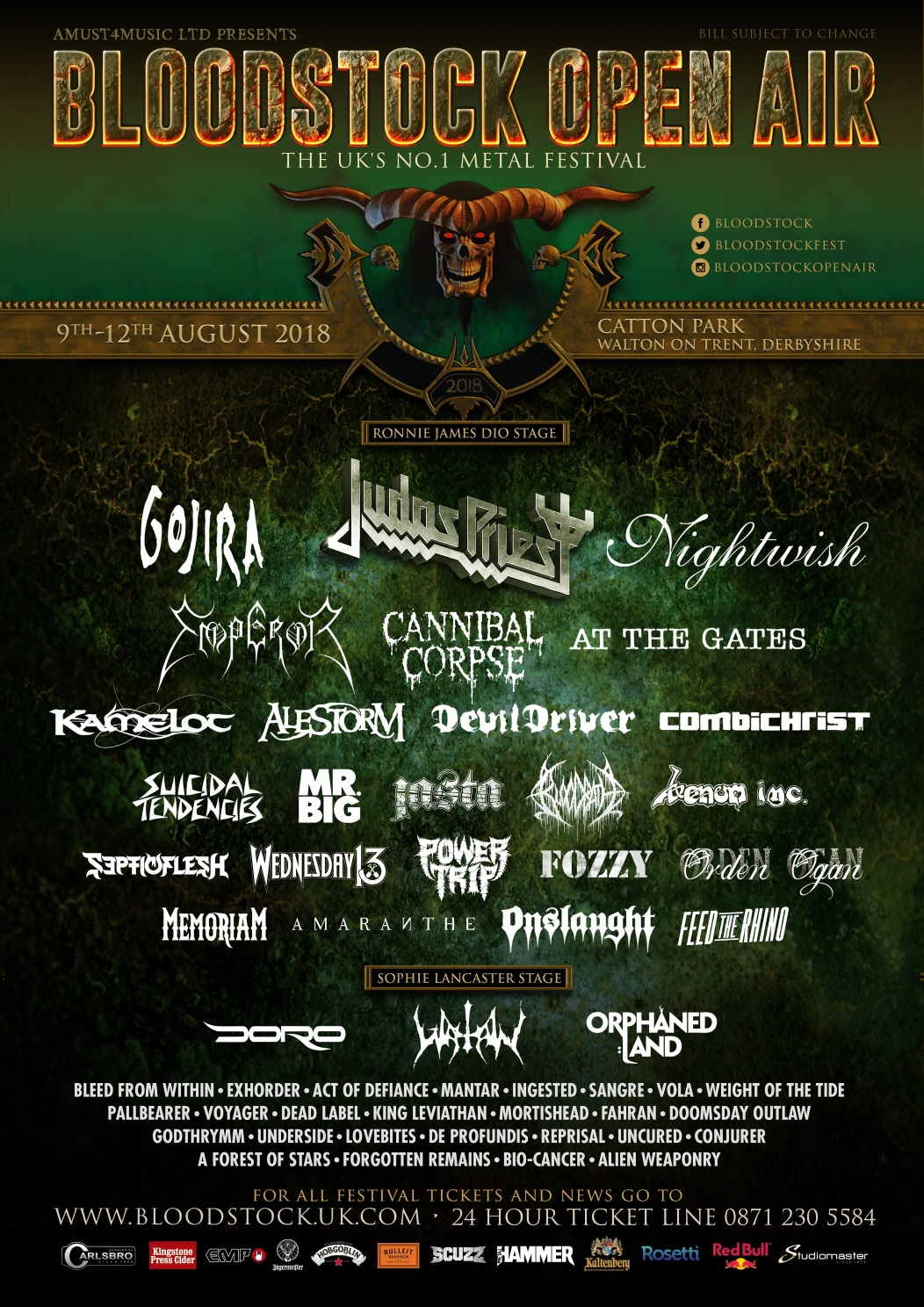 BLOODSTOCK joins Drastic On Plastic campaign; adds Power Trip, Conjurer, & more