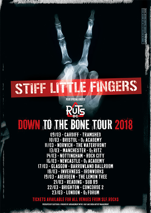 STIFF LITTLE FINGERS and THE RUTS The Concorde 2 , Brighton, 23rd March 2018
