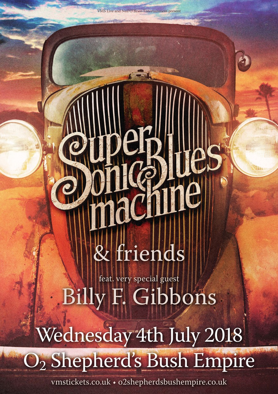 SUPERSONIC BLUES MACHINE & Friends Featuring very special guest BILLY F. GIBBONS