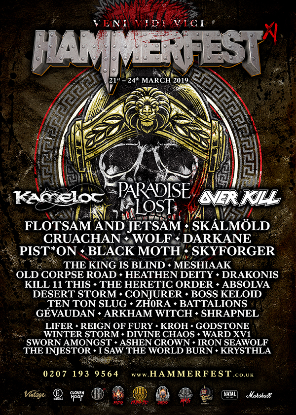 HAMMERFEST XI ANNOUNCES ITS SATURDAY HEADLINER PLUS ANOTHER 18 METAL MASTERS
