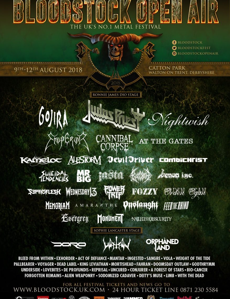 Under 100 days to go, BLOODSTOCK add more bands