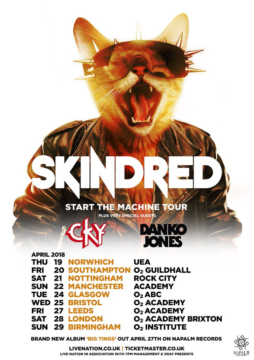 Skindred – Bristol 02 Academy (25/04/18)