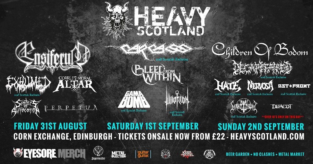 HEAVY SCOTLAND announce day splits and release day tickets