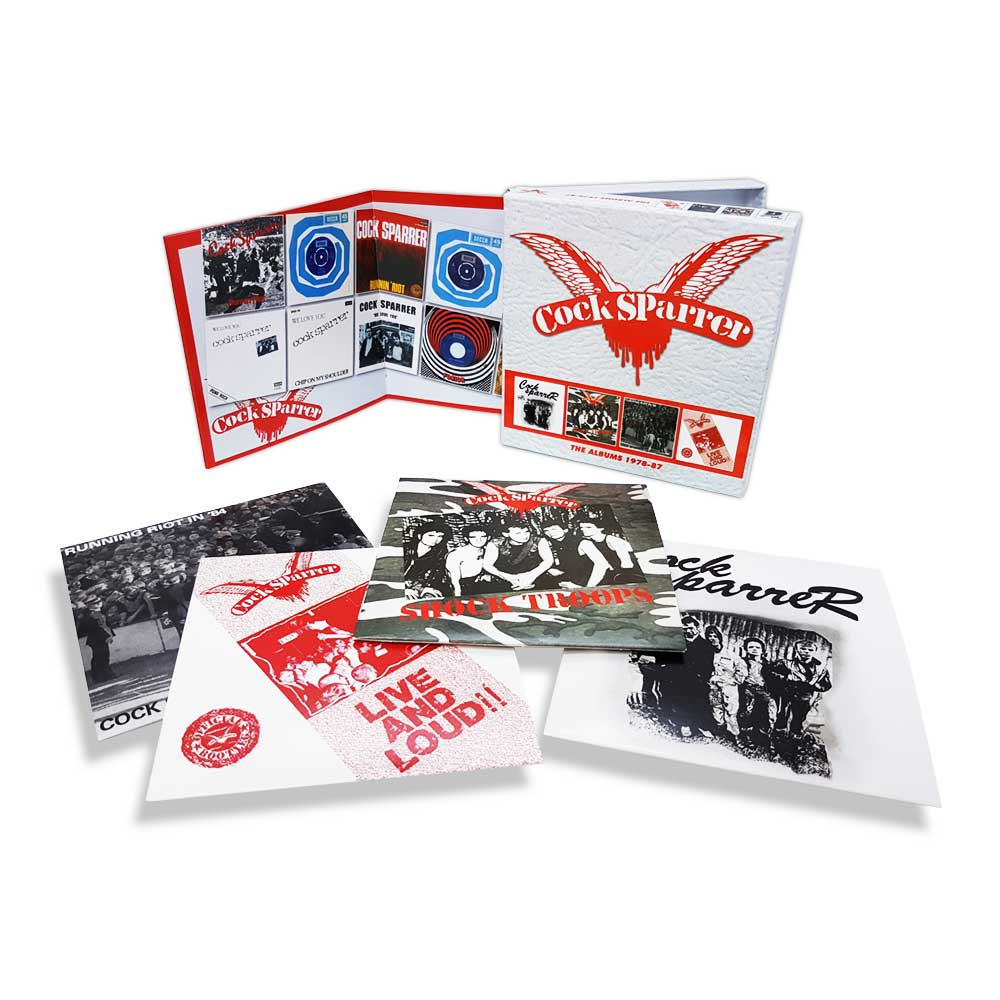 COCK SPARRER: THE ALBUMS 1978 – 87, 4CD CLAMSHELL BOX SET