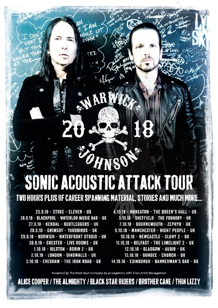 Warwick-Johnson – Announce UK And Europe Acoustic Tour In Autumn 2018