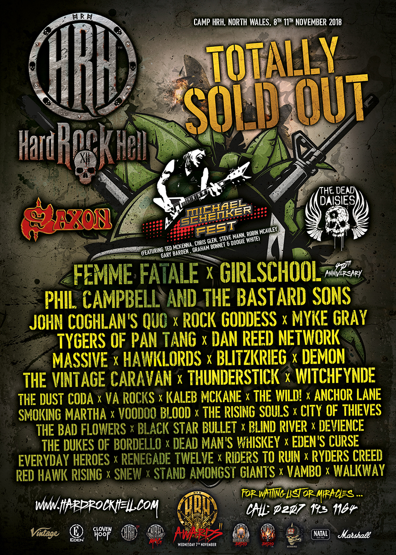 HARD ROCK HELL XII ANNOUNCE YET MORE BANDS TO THEIR LINE-UP!