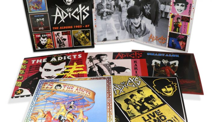 THE ADICTS: THE ALBUMS 1982 – 87, 5CD CLAMSHELL BOX SET ADICTS