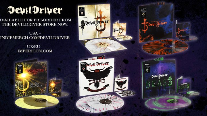 DEVILDRIVER announce revamped catalogue reissues & frontman Dez unboxes the coloured vinyl!