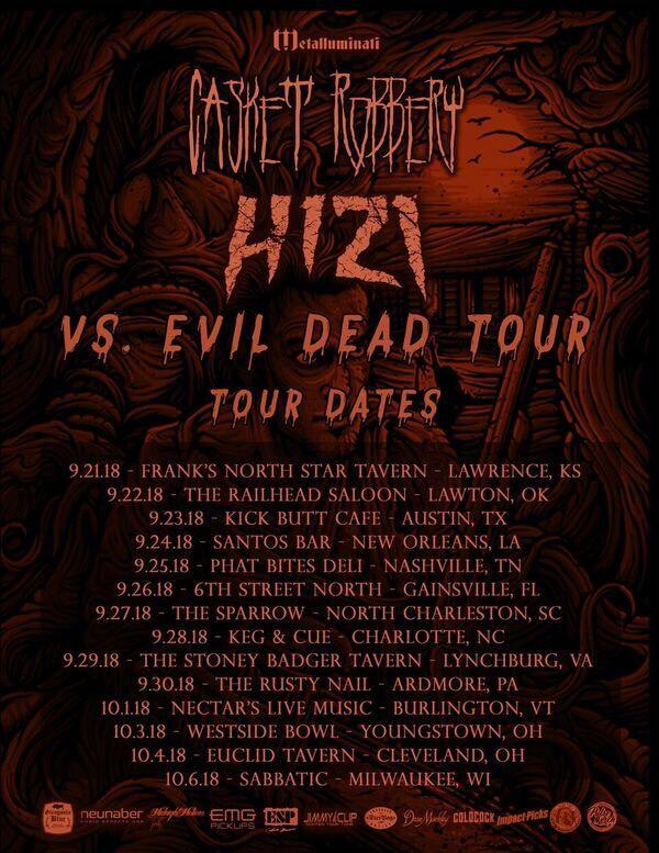CASKET ROBBERY / H1Z1 Vs. Evil Dead Tour Dates Finalized: Prepare for Launch