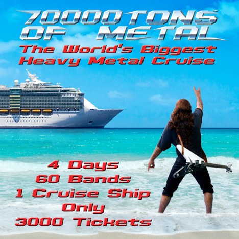 Public Sales Date For 70000TONS OF METAL 2019 Cruise Announced