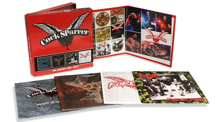 COCK SPARRER: THE ALBUMS: 1994-2017, 4CD CLAMSHELL BOX SET