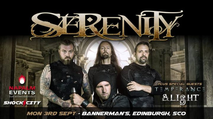 Serenity, Temperance and Alight – Bannermans Bar, Edinburgh Monday 3rd September 2018