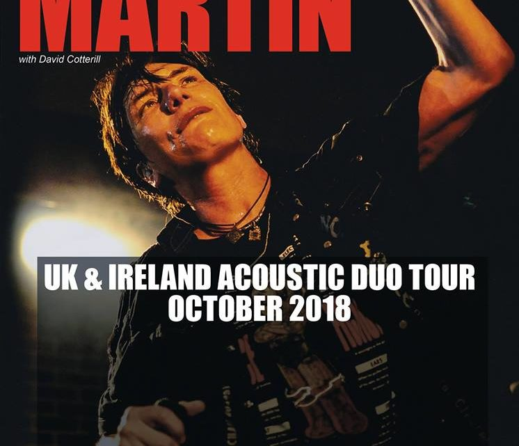 Eric Martin – Bannermans – Edinburgh – 16th October 2018