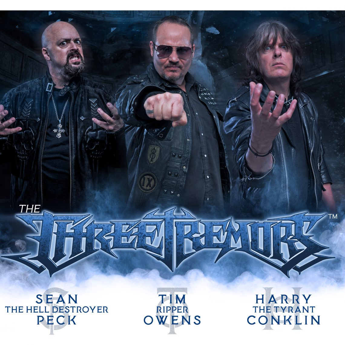 THE THREE TREMORS (feat. Tim 'Ripper' Owens, Sean Peck, Harry Conklin release their new album 18th Jan. 2019