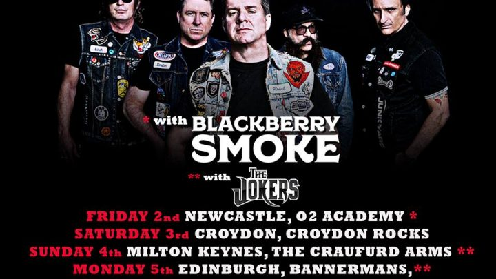JUNKYARD : Hollywood rockers on tour in the UK from today for shows with Blackberry Smoke and The Jokers