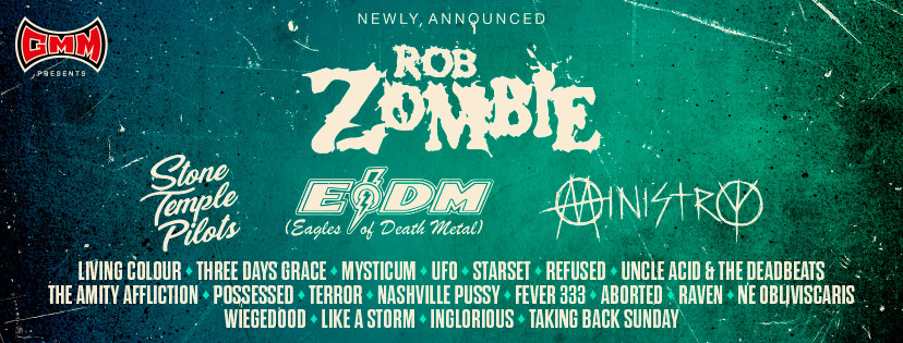 Rob Zombie, Stone Temple Pilots, Eagles Of Death Metal, Ministry and others have been added to the line-up of GMM
