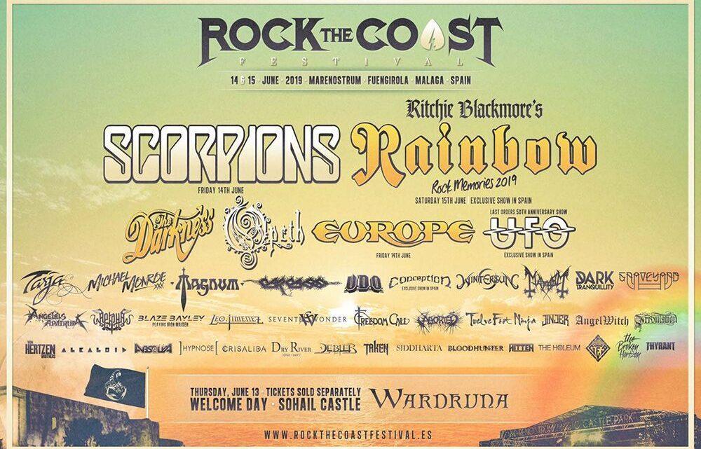 Rock The Coast Festival (Spain) announce Scorpions, Wardruna, Tribulation, Aborted, Von Hertzen Brothers & more