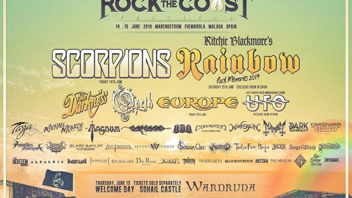 Rock The Coast Festival (Spain) announce Scorpions, Wardruna, Tribulation, Aborted, Von Hertzen Brothers & more