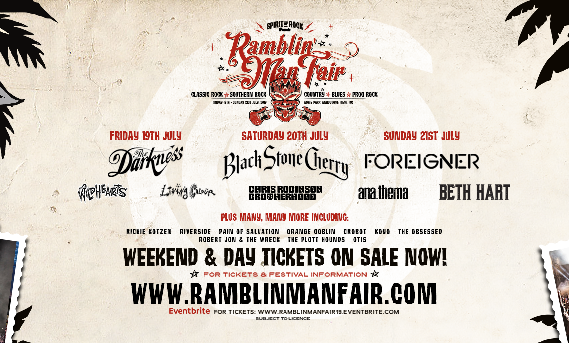 RAMBLIN' MAN FAIR SUPPORT AND SHOWCASE THE NEW WAVE OF UK AND INTERNATIONAL CLASSIC ROCK