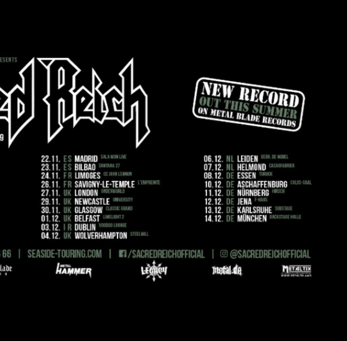Sacred Reich announce Tour and New Album for 2019