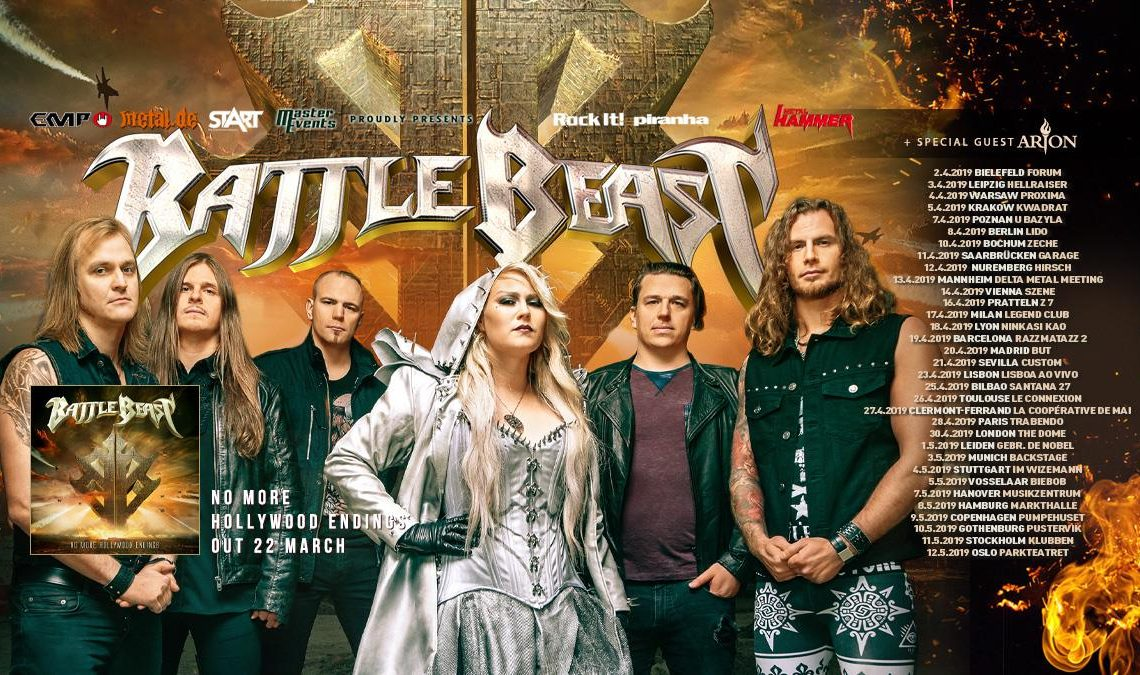 """BATTLE BEAST – Announce Support Acts For Second Part Of Their """"No More Hollywood Endings"""" European Tour + Unveil 2019 Festival Season Aftermovie!"""