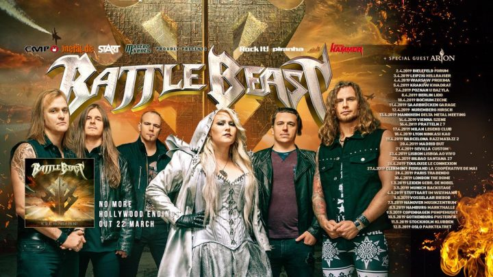 "BATTLE BEAST – Announce Support Acts For Second Part Of Their ""No More Hollywood Endings"" European Tour + Unveil 2019 Festival Season Aftermovie!"