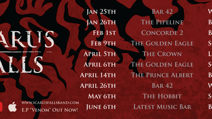 ICARUS FALLS : 'Burning Tree' – new single & video by Brighton based rock band out 29.03.19