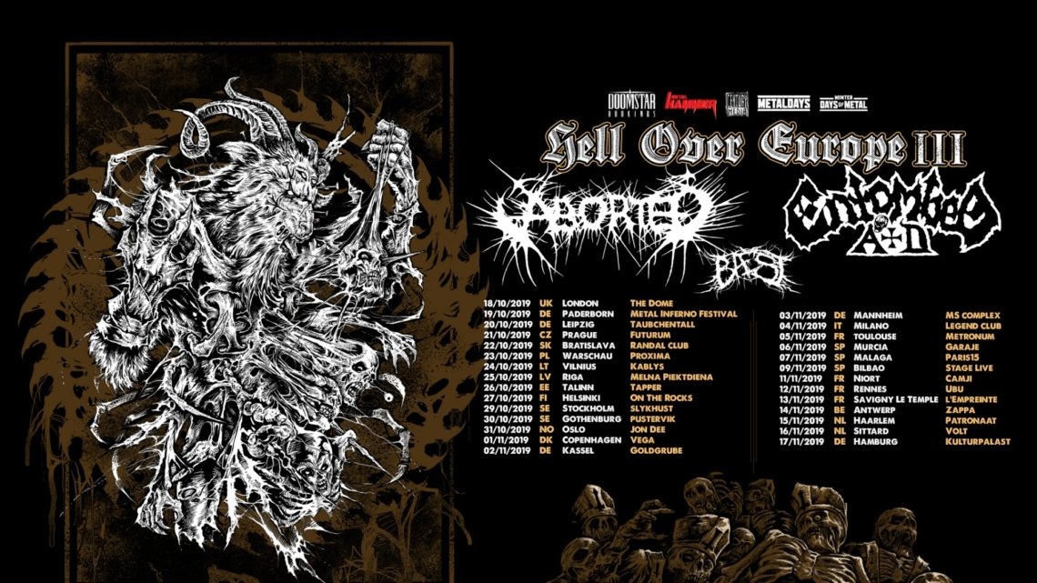"""Century Media Records Artists ABORTED, ENTOMBED A.D. and BAEST Team Up For """"Hell Over Europe III"""" Tour"""