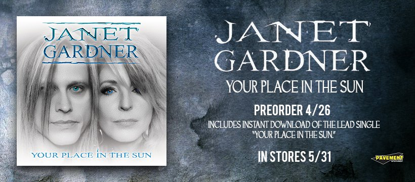 Janet Gardner To Release Sophomore Solo Album 'Your Place In The Sun' 31st May 2019