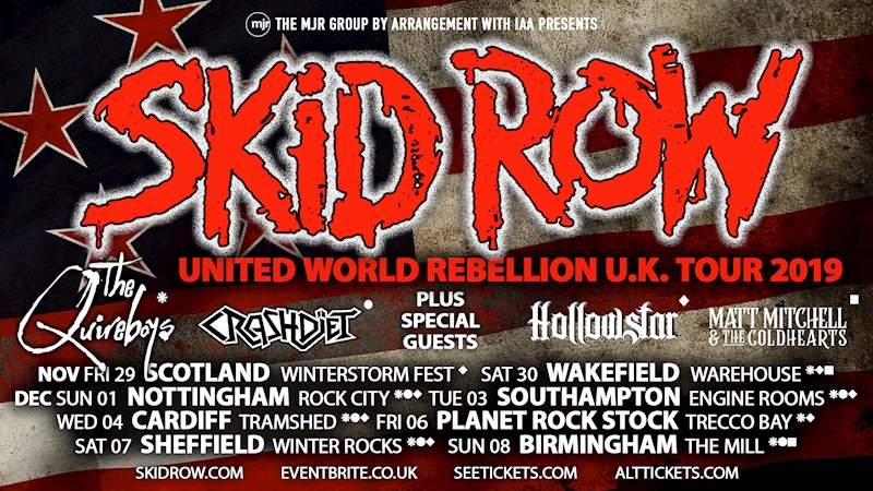 SKID ROW UK tour dates announced.