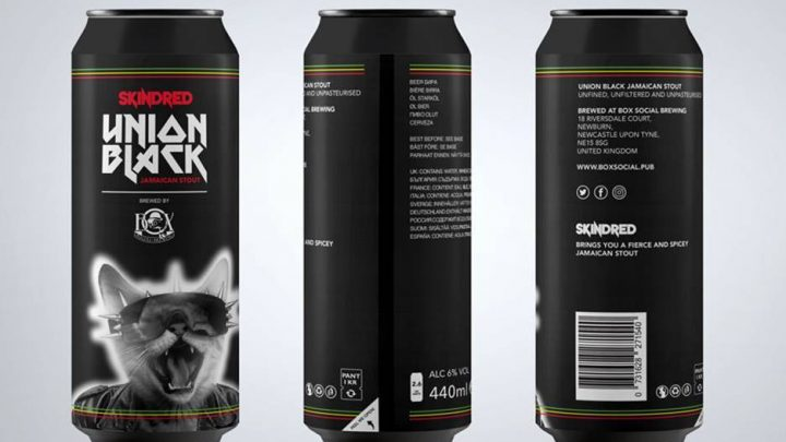 Skindred & Box Social Brewing launch Union Black Jamaican Stout . (A Heady Brew That Brings People Together)