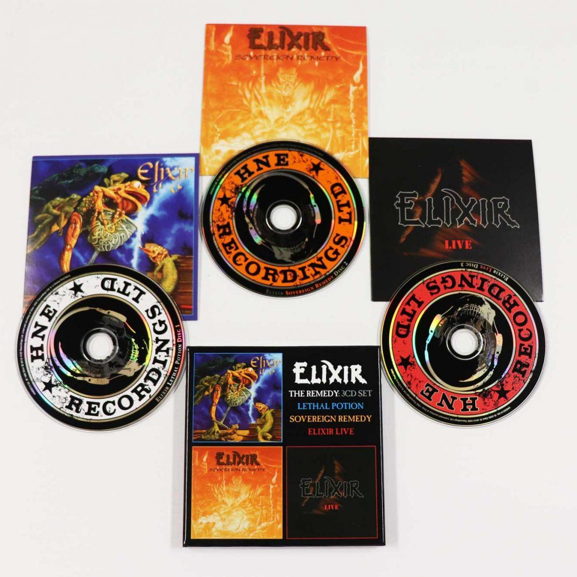 Elixir: The Remedy: Lethal Potion / Sovereign Remedy / Elixir Live, 3CD Remastered Boxset Edition
