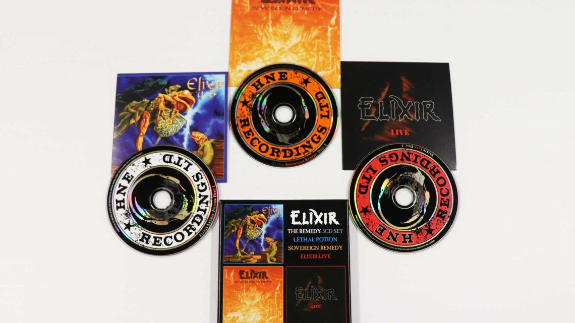 Elixir: The Remedy: Lethal Potion / Sovereign Remedy / Elixir Live, 3CD Remastered Boxset Edition