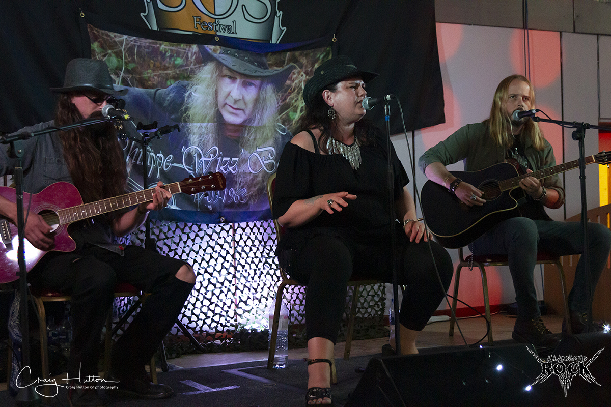 Band playing live at SOS Festival XII