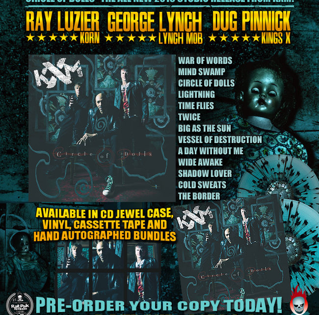"RPR set to release KXM ""Circle of Dolls ft: George Lynch, dUg Pinnick, Ray Luzier"