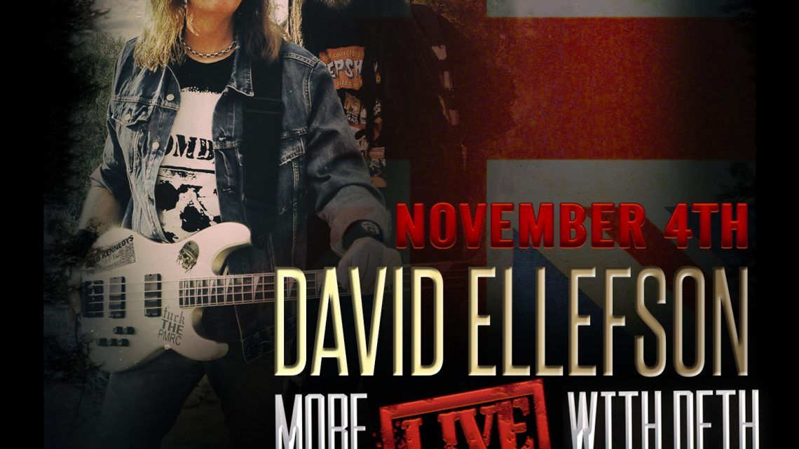 """DAVID ELLEFSON ANNOUNCES EUROPEAN 'MORE LIVE WITH DETH' TOUR, INCLUDING SPECIAL ONE-OFF WOLVERHAMPTON SHOW FEATURING JUDAS PRIEST LEGENDS  KK DOWNING, LES BINKS and TIM """"RIPPER"""" OWENS."""