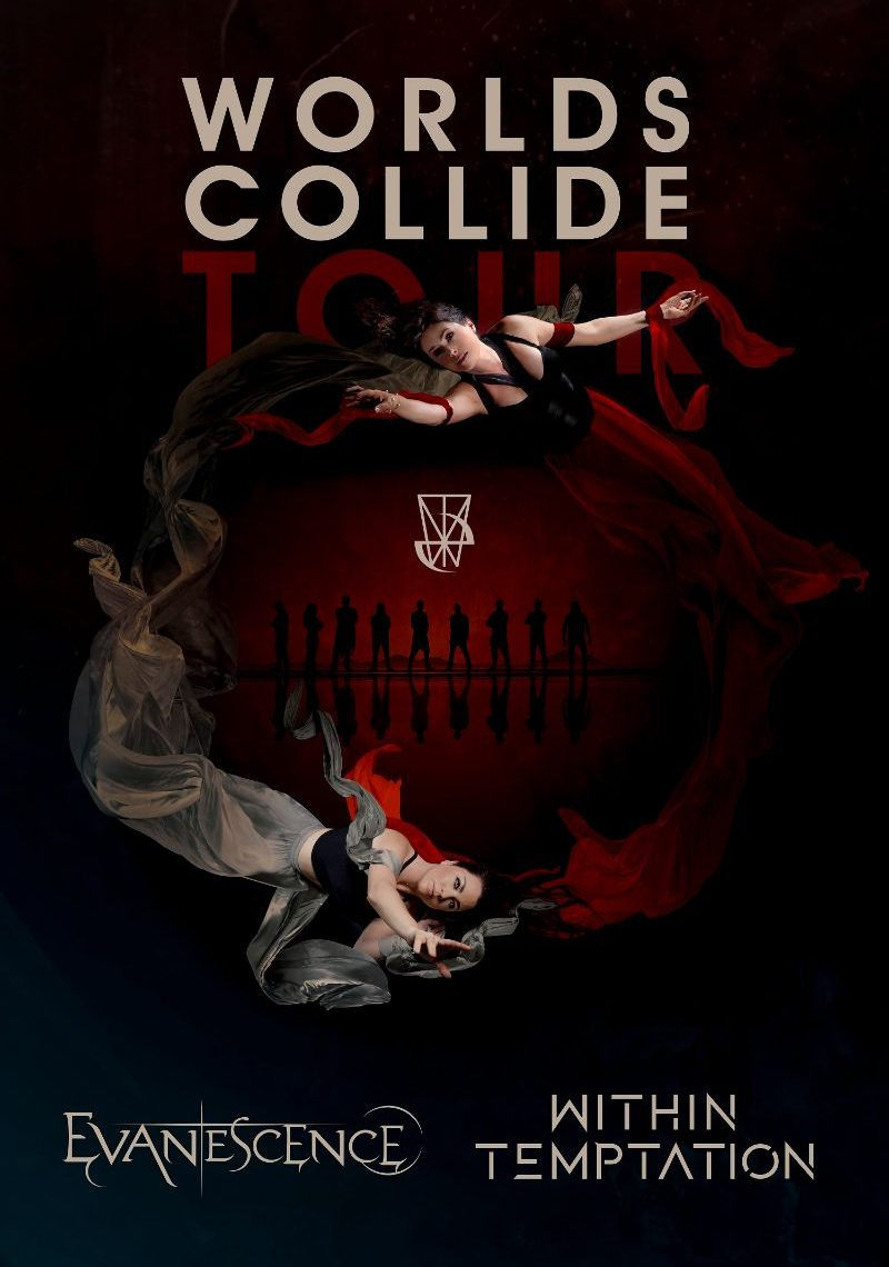 EVANESCENCE & WITHIN TEMPTATION JOIN FORCES FOR WORLDS COLLIDE – A MASSIVE CO-HEADLINE EUROPEAN TOUR IN APRIL 2020