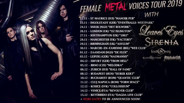 FOREVER STILL – to join LEAVES EYES and SIRENIA on FMV tour 2019