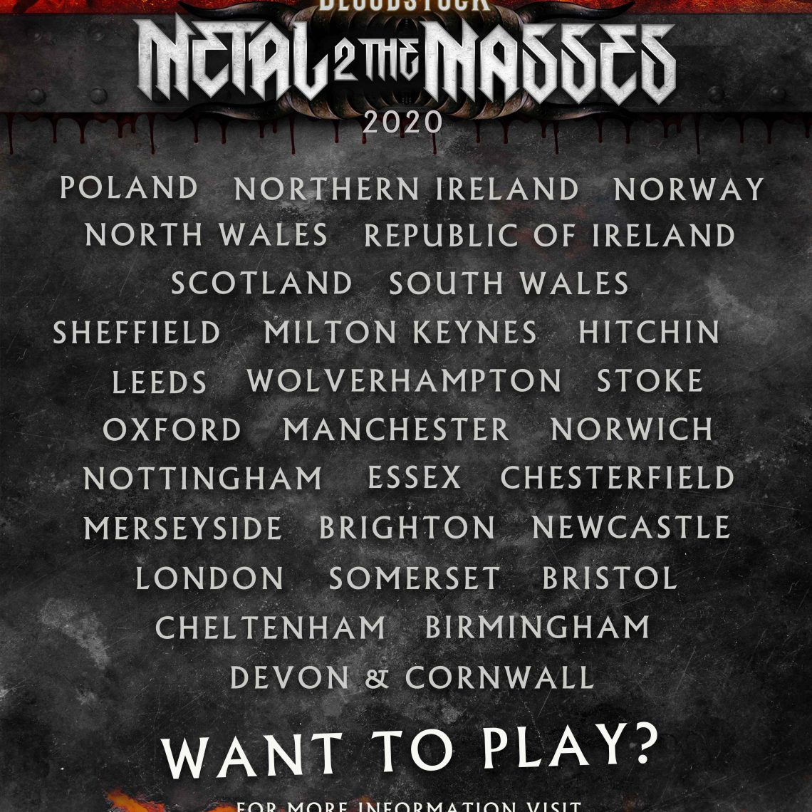 BLOODSTOCK Festival launches 2020's regional Metal 2 The Masses Programme