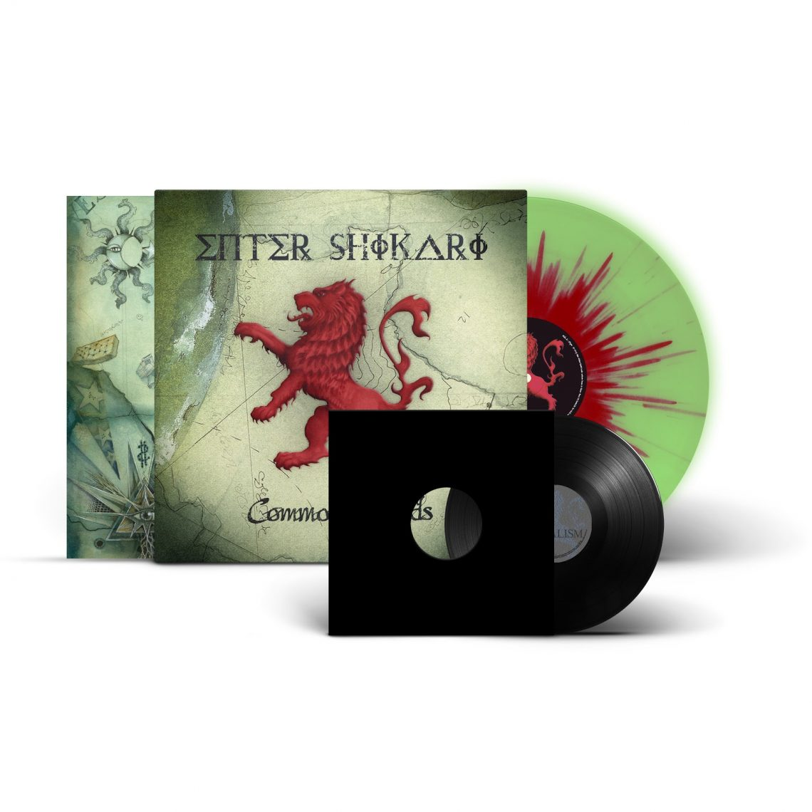 Enter Shikari 'Common Dreads (10th Anniversary Edition)' limited edition green glow in the dark with red splatter vinyl