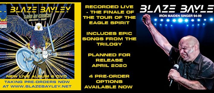 Blaze Bayley reveals new album and DVD plans and pre-orders
