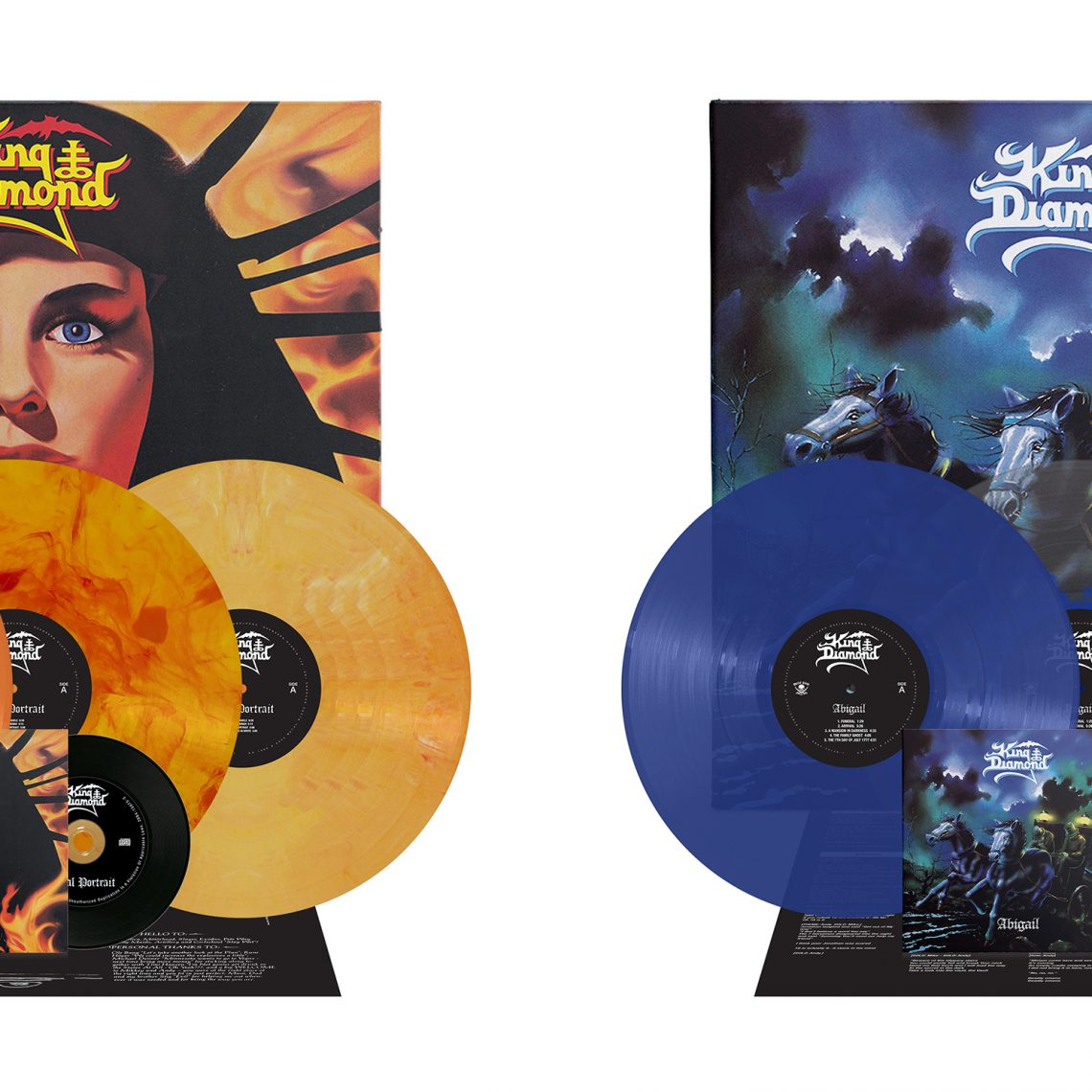 King Diamond: 'AbigaiI', 'Fatal Portrait' CD & LP re-issues now available via Metal Blade Records